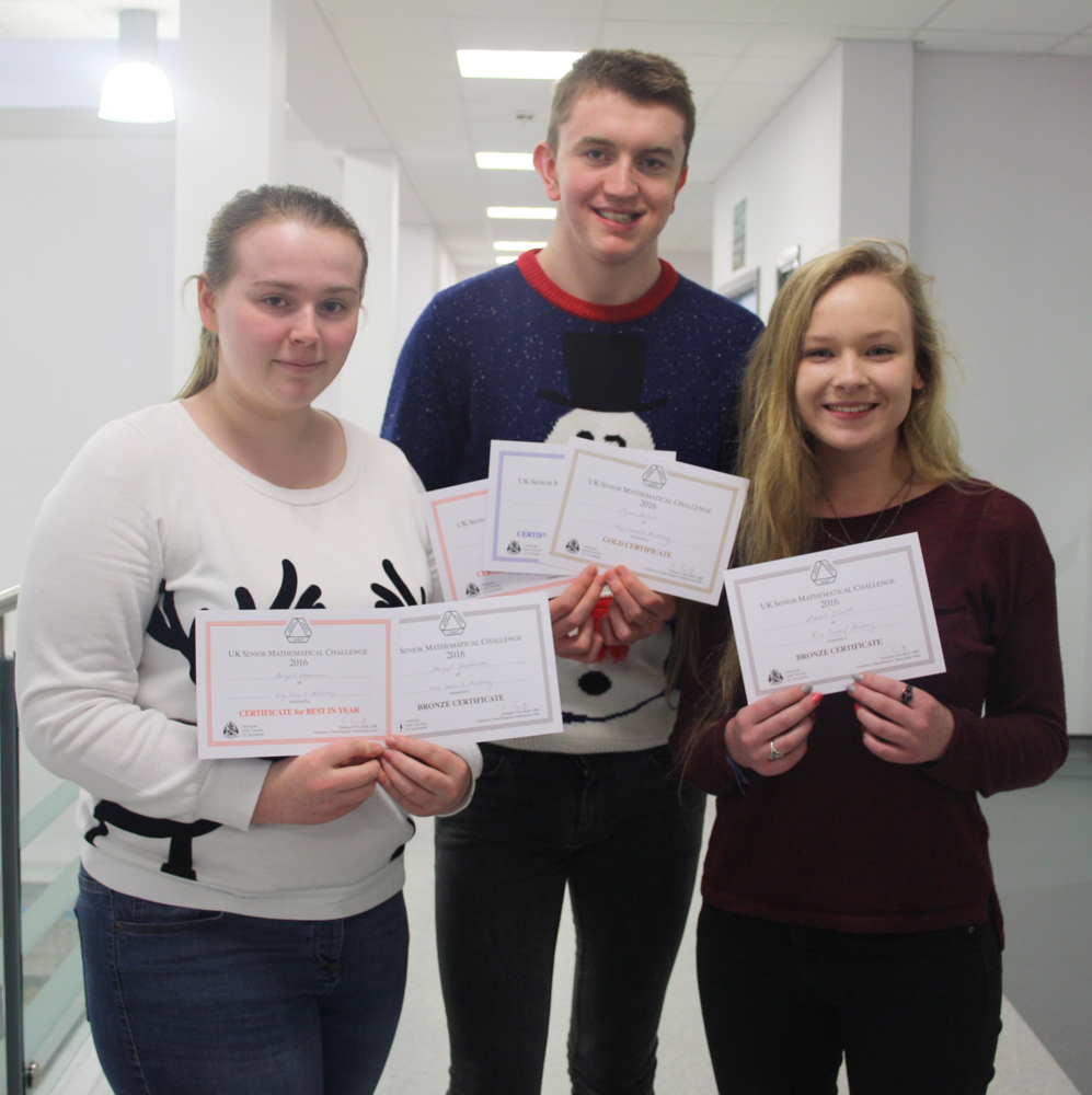 UKMT Senior Maths Challenge Success