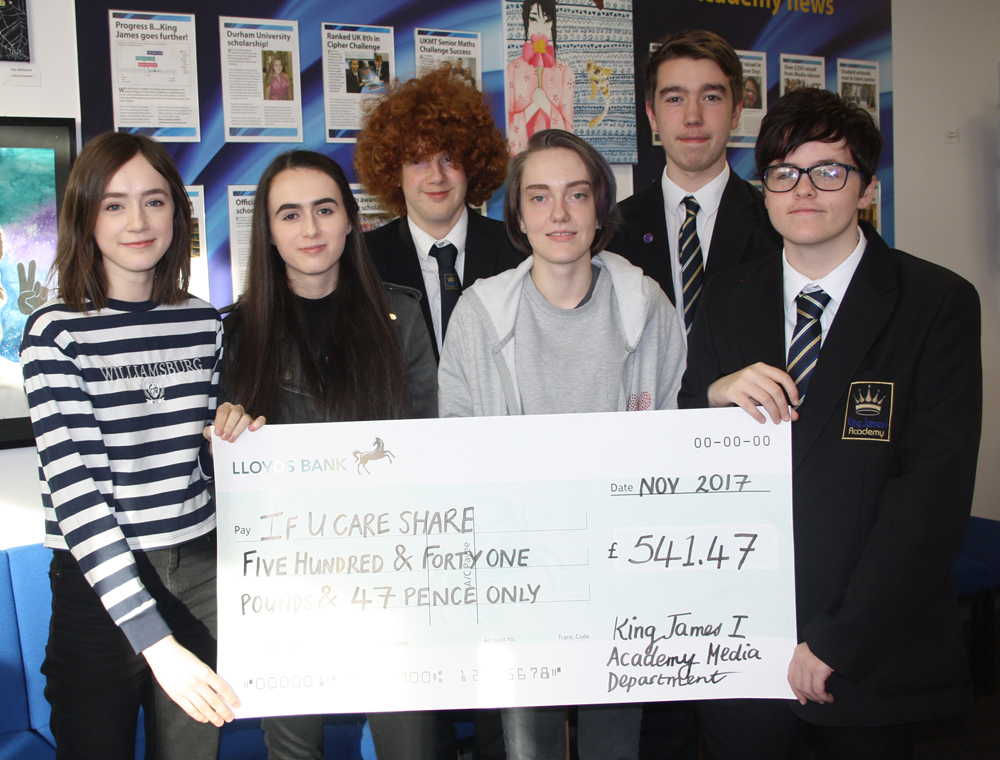 Media students make donation to If U Care Share Foundation