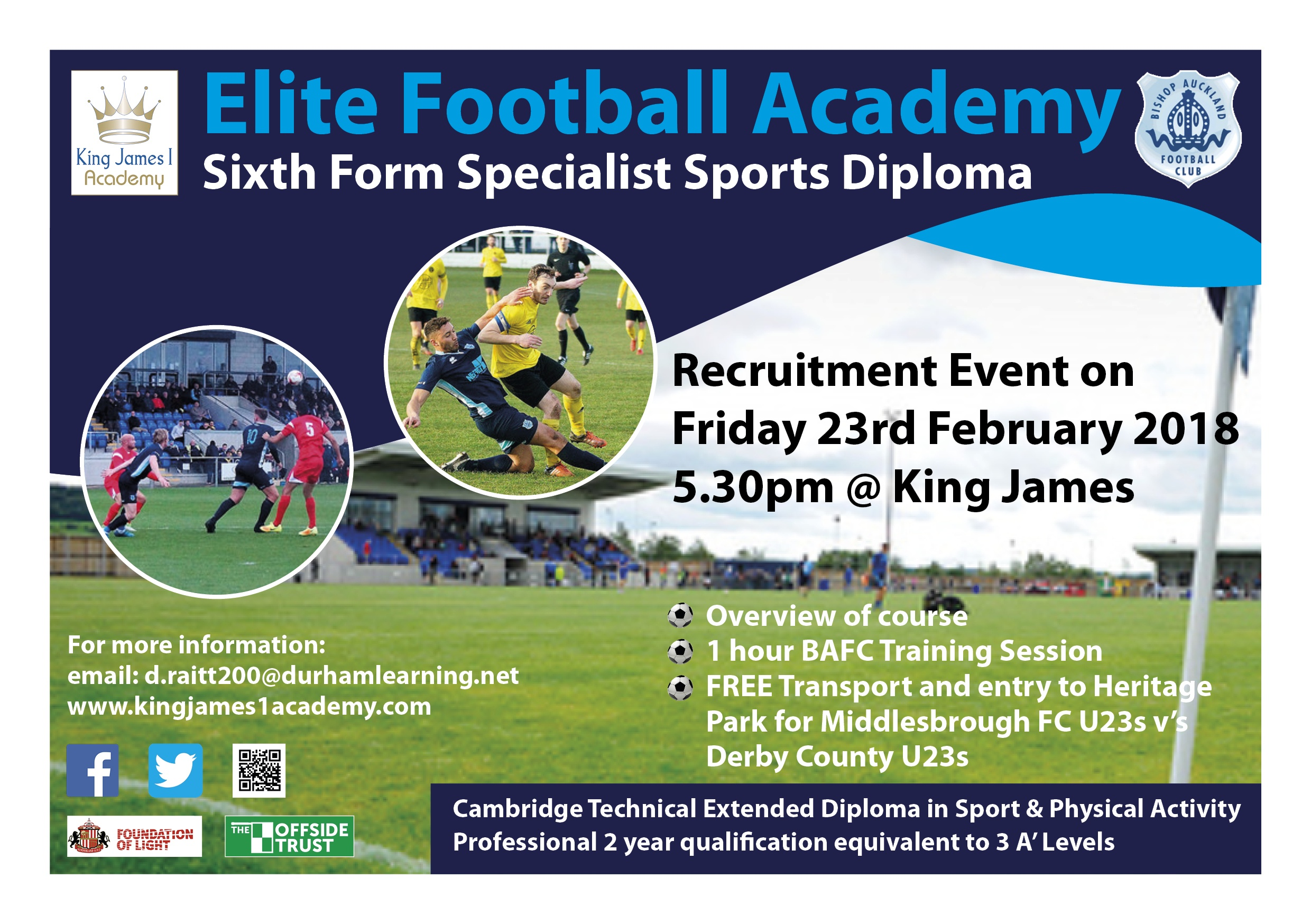 Academy Recruiting Footballers for Elite Course