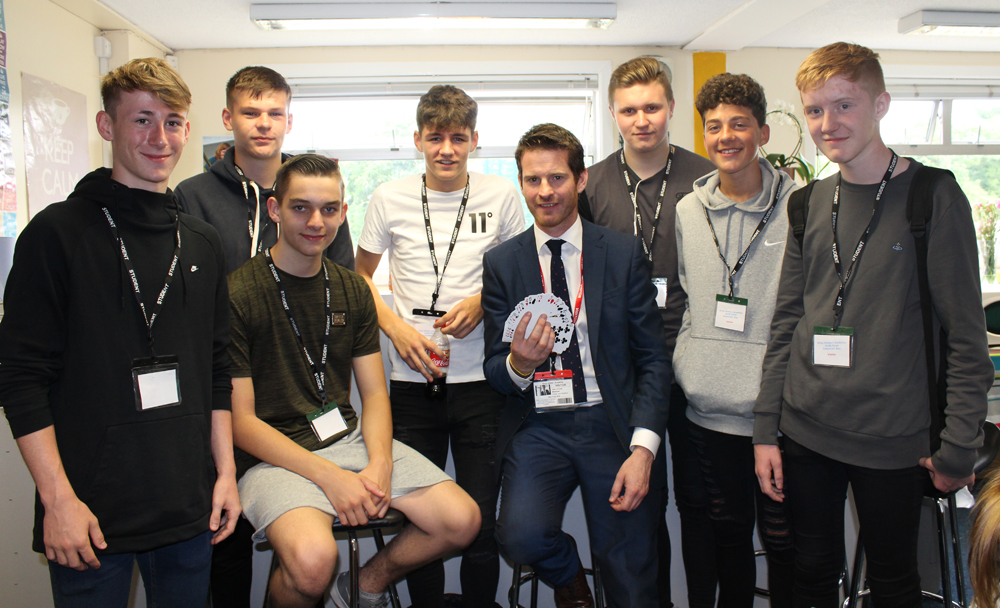 Magician Shocks New Sixth Formers