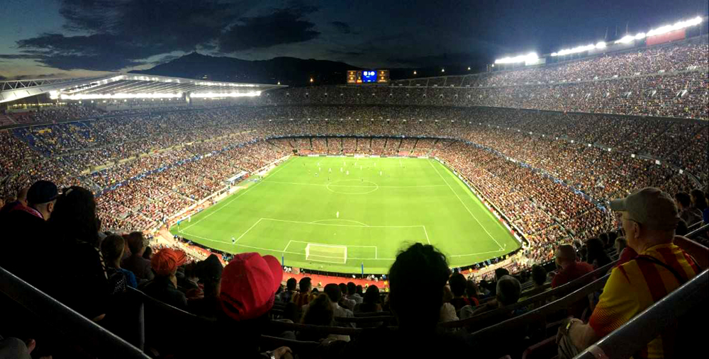 Watching Barcelona FC in their Home Town